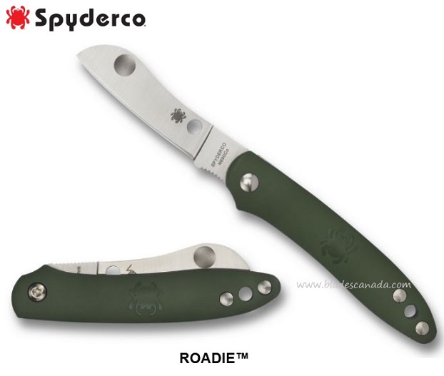 Spyderco Knives Roadie Green, N690Co, Slipjoint, C189PGR