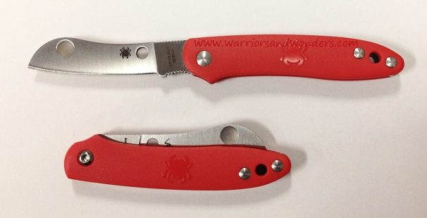 Spyderco Roadie Red N690Co Folding Knife C189PRD
