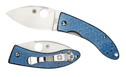 Spyderco Lil' Lum Blue Nishijin Sprint Run C205GFBLP - Click Image to Close