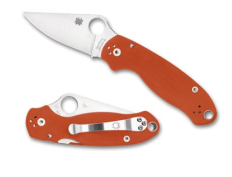 Spyderco Para 3 Burnt Orange REX-45 Sprint Run C223GPBORE