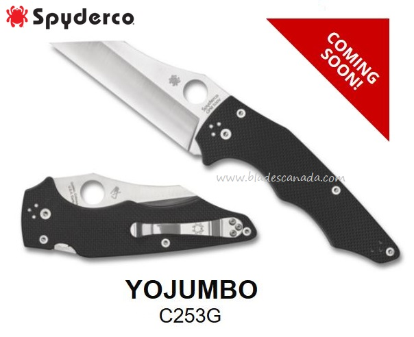 "Spyderco Yojumbo, 4"" S30V Steel, G10, Compression, C253GP (Coming Soon)"