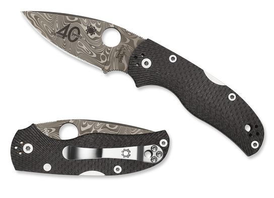 Spyderco C41CF40TH Native 40th Anniversary Damasteel