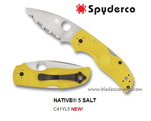 Spyderco Native 5 Salt SpyderEdge, LC200N Steel, C41SYL5