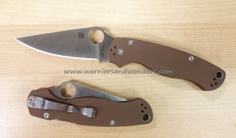 Spyderco Para Military 2 Brown G-10 - S35VN (Sprint) C81GPBN2