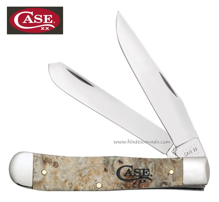 Case Trapper Box Elderwood Folding Knife, CA16560 (Online Only)