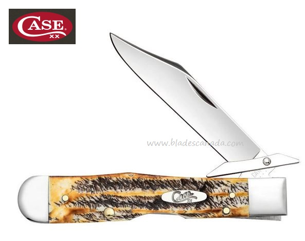 Case 6.5 BoneStag Cheetah,Locking, CA65319 (Online Only)