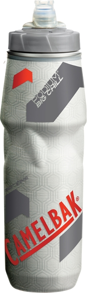 Camelbak Podium Big Chill Bottle 750ml - Clear/Racing Red