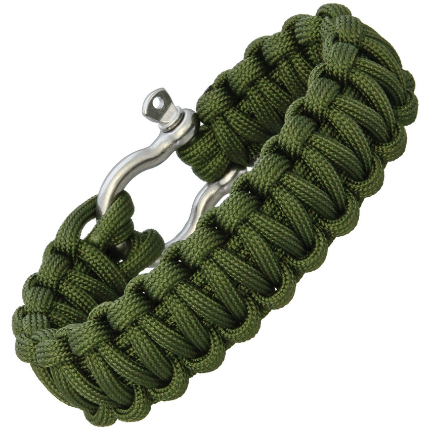 Combat Ready Survival Paracord Bracelet - OD Green