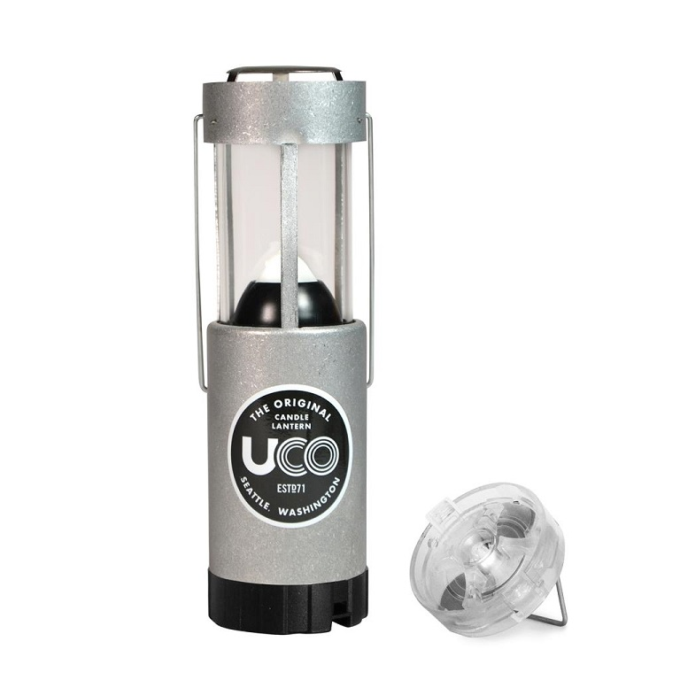 UCO Gear Candle Lantern Aluminum + LED Light Combo