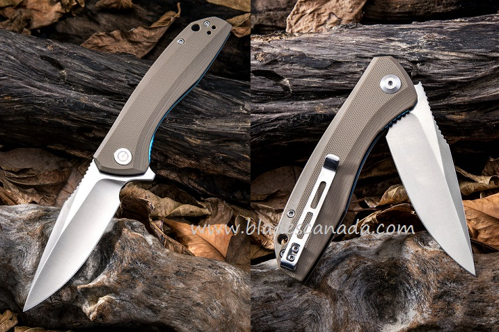 CIVIVI C801B Backlash Folder - Brown G-10