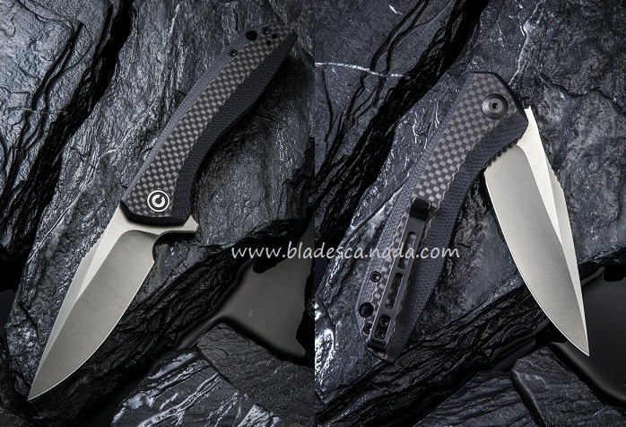 Bestech C801D Blacklash Folder - Carbon Fiber/G-10