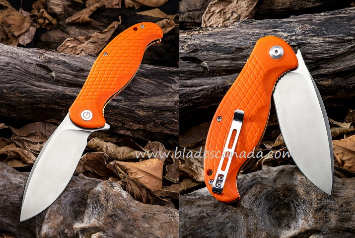 CIVIVI C802A Naja Folder - Orange G-10