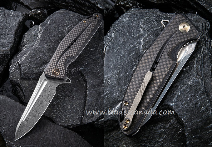 CIVIVI C901DS Statera Damascus, G10 & Carbon Fiber