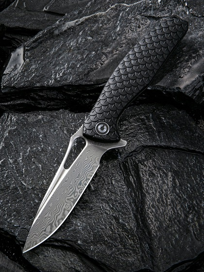 CIVIVI C902DS Wyvern Damascus, Black GRN Handle (Online Only)