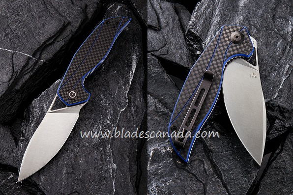 Civivi C903B Anthropos D2 Blue G-10 with Carbon Fiber
