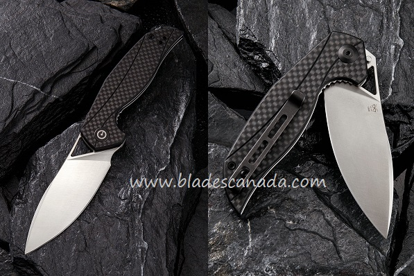 Civivi C903C Anthropos D2 Black G-10 with Carbon Fiber
