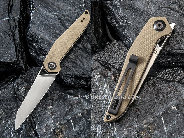 CIVIVI C905A Mckenna D2- Tan G10 Handle