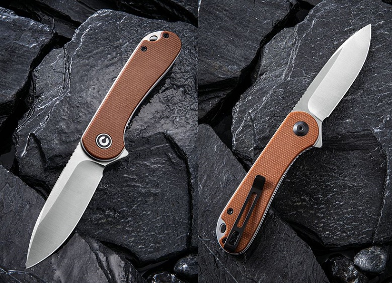 CIVIVI C907M Elementum D2 Folder - Brown Micarta (Online Only)