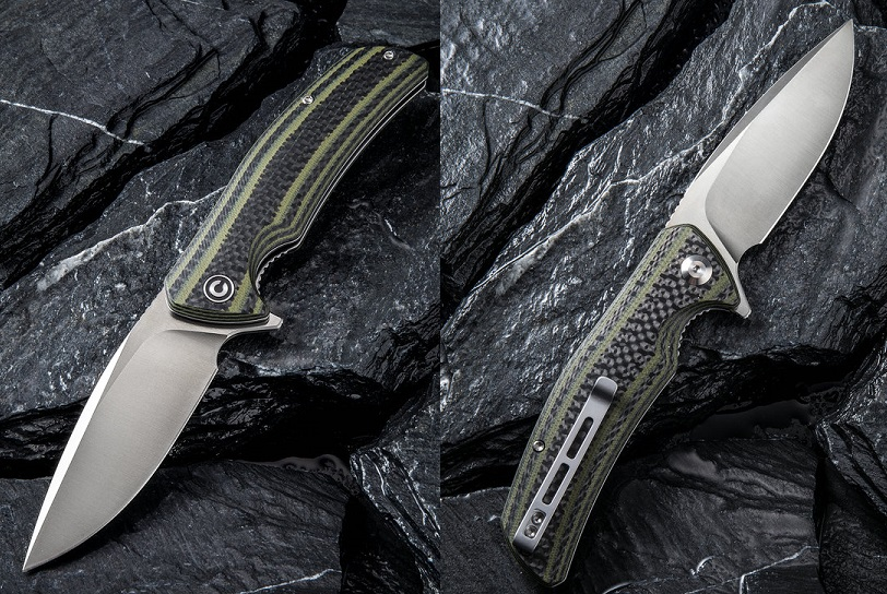 CIVIVI C908A Incite D2 - Green G10 & Carbon Fiber