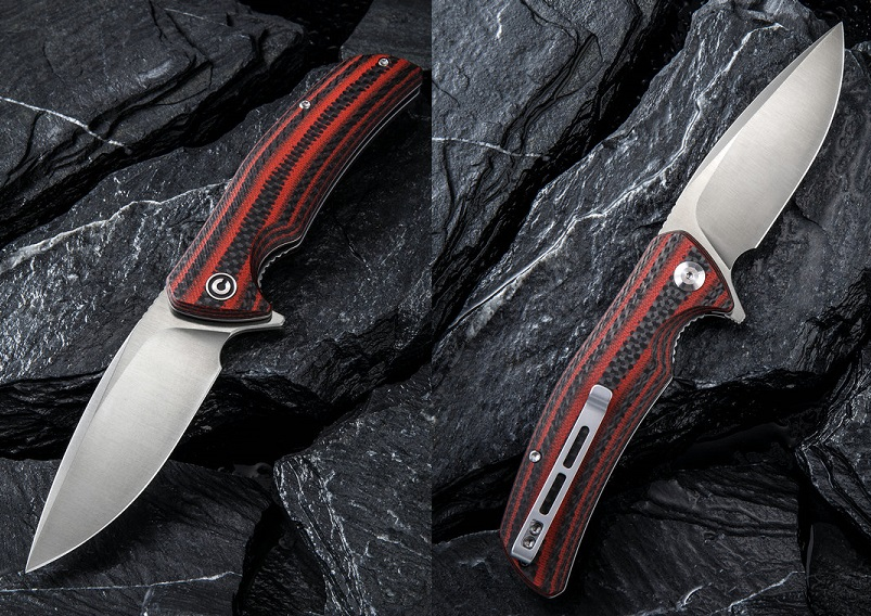 CIVIVI C908C Incite D2 - Red G10 & Carbon Fiber