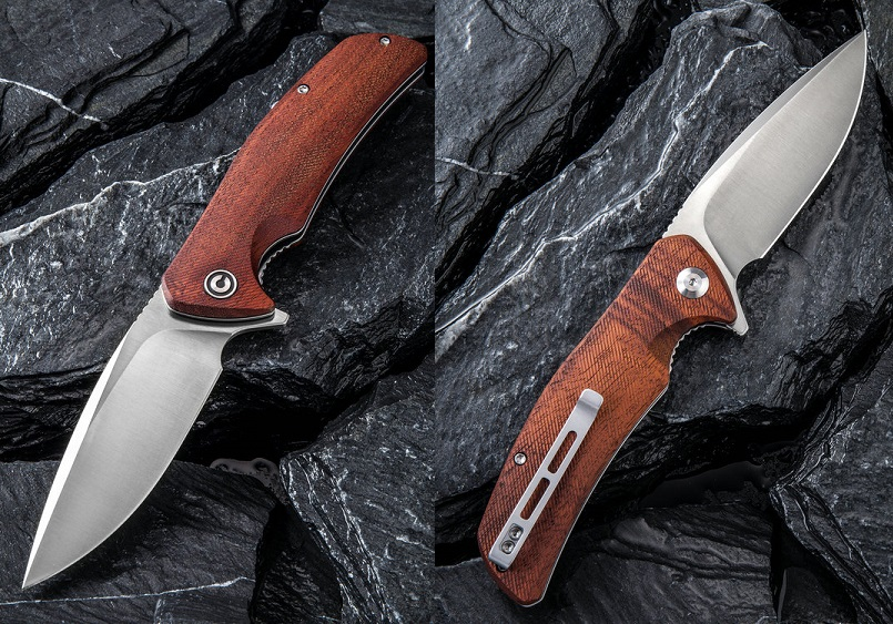 CIVIVI Incite Flipper Folder, D2, Wood Handle, C908D (Online Only)