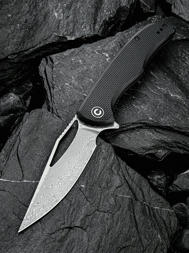 CIVIVI C912DS Shredder Damascus - Black G10