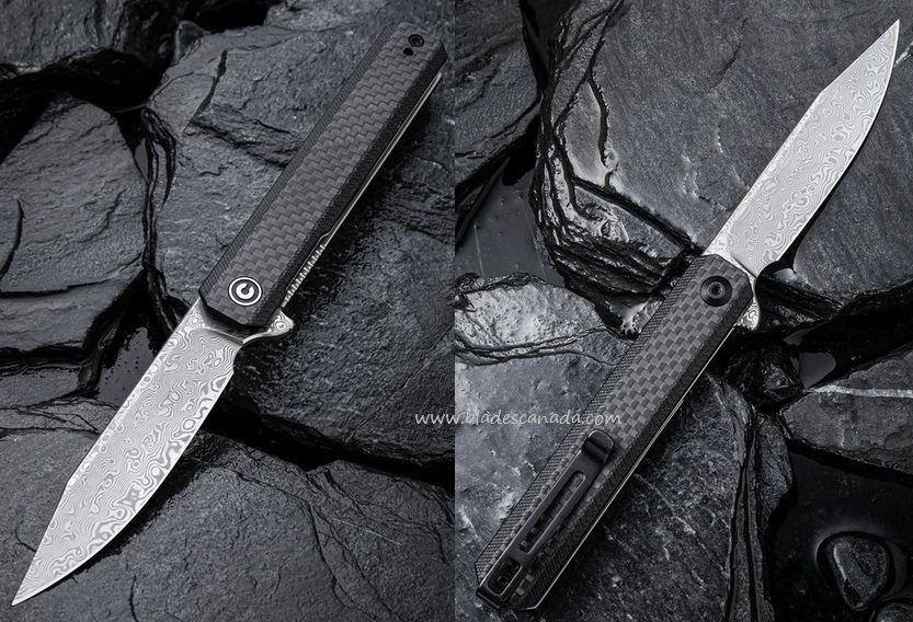 Civivi Chronic, Damascus, G10/Carbon Fiber, C917DS (Online Only)