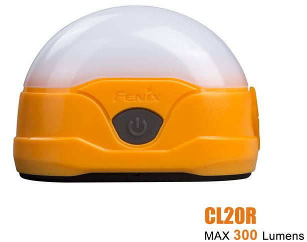 Fenix CL20R Compact Rechargeable Lantern Orange - 300 Lumens