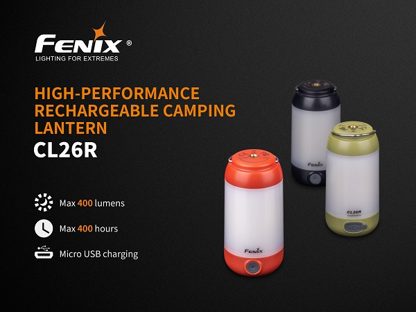 Fenix CL26R Rechargeable Camping Lantern BLACK- 400 Lumens