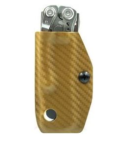 Clip & Carry Kydex Sheath for Leatherman Skeletool-Gold Pattern