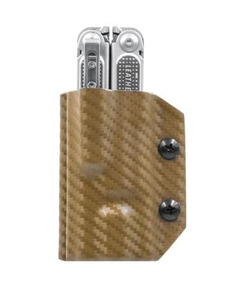 Clip & Carry Kydex Sheath for Leatherman Free P4- Gold Pattern