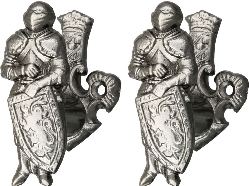 Armoured Knight Sword & Weapon Holder (Set of 2)