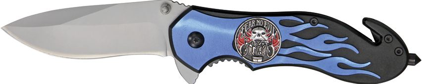 CNM Fast Flame Fear No Evil Folder - Blue (Online Only)