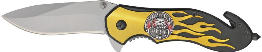CNM Fast Flame Fear No Evil Folder - Gold (Online Only)