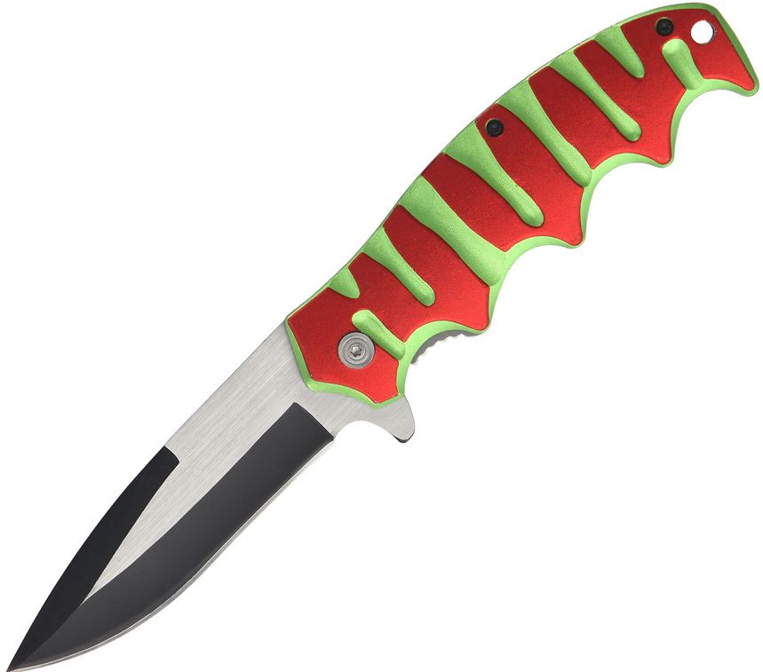 CNM Neon 299RG Folder Assisted Open - Red & Green (Online Only)