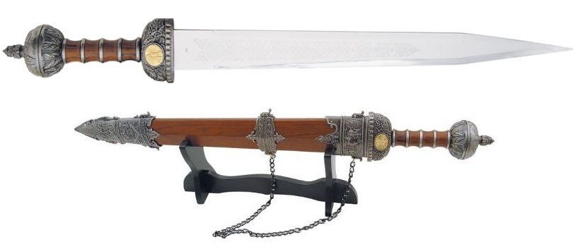 CNM Roman Gladius Sword w/ Display Stand