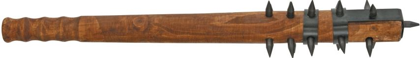 CNM Hardwood Medieval Mace with Black Spikes