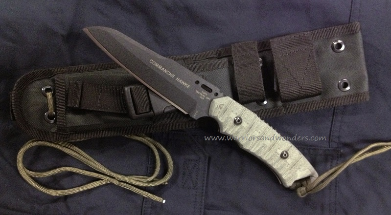 TOPS COHK02 Commanche Hawke II w/Ballistic Nylon Sheath
