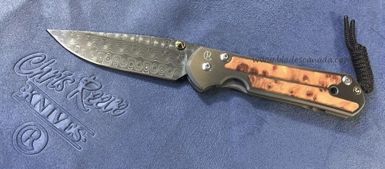 Chris Reeve Large Sebenza 21 Raindrop Damascus - Thuya Wood