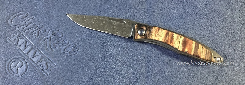 Chris Reeve Mnandi Raindrop Damascus - Spalted Beech Wood