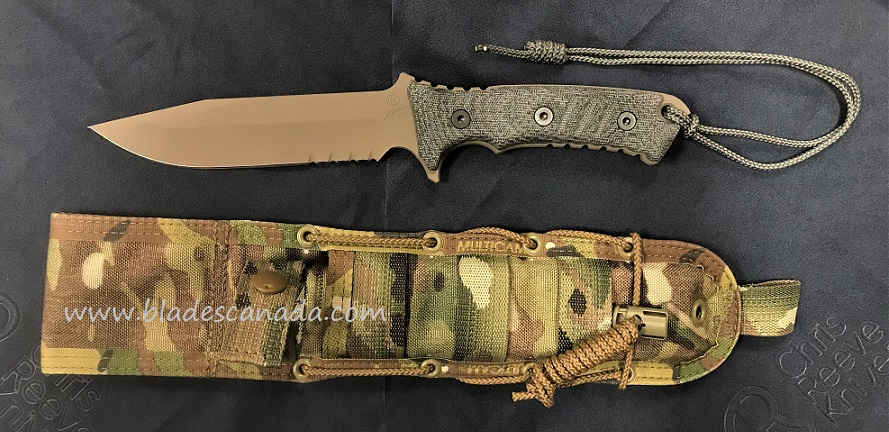 Chris Reeve Pacific Partially Serrated - Flat Dark Earth