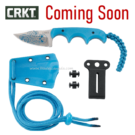 (Coming Soon) CRKT Knives Minimalist Bowie Cthulhu, Glow-In-The-Dark,2387O