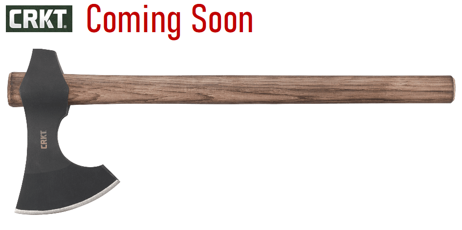 (Coming Soon) CRKT Knives Berserker Viking Axe, 1055 Carbon, Tennesse Hickory, 2736