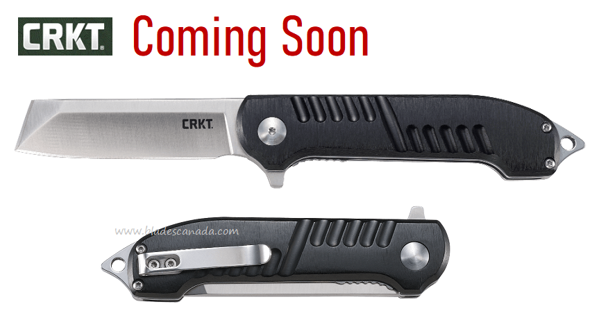 (Coming Soon) CRKT Razel GT Flipper Folder, Aluminum Handle, Assisted Opening, 4031