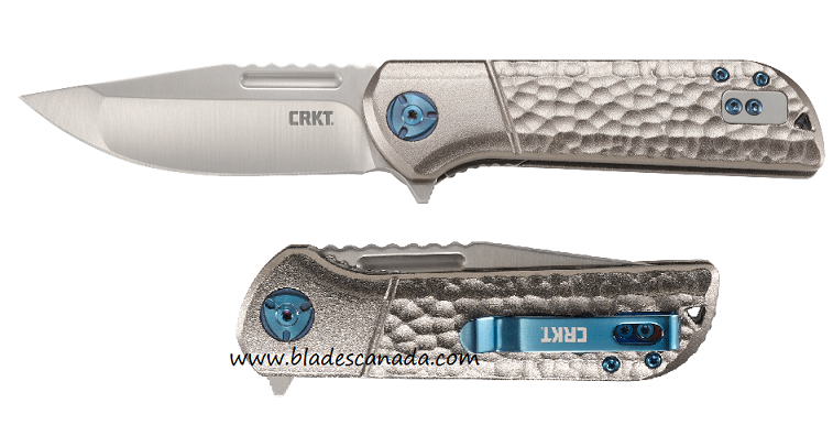 (Coming Soon) CRKT Knives Lanny Flipper Folder, Aluminum Handle, Assisted Opening, 6525