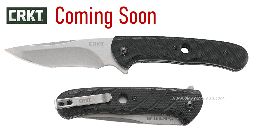 (Coming Soon) CRKT Knives Intention Flipper Folder, G10 Handle, Assisted Opening, 7160