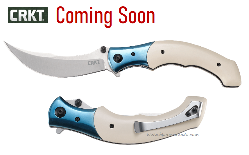 (Coming Soon) CRKT Knives Ritual Flipper Folder, Sandvik, Micarta, Assisted Opening, 7471