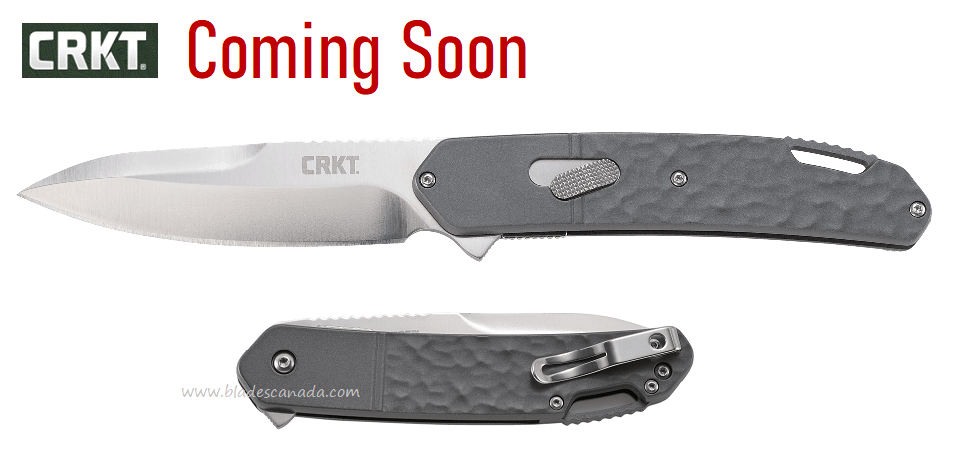 (Coming Soon) CRKT Knives Bona Fide Silver Flipper, D2, Aluminum Handle, CRKTK540GXP