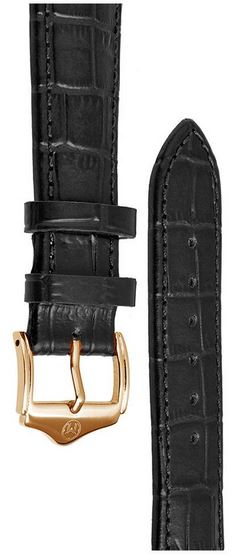 Melbourne Leather Black Croc Grain Watch Strap - 20mm