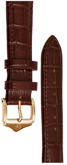 Melbourne Leather Brown Croc Grain Watch Strap - 22mm